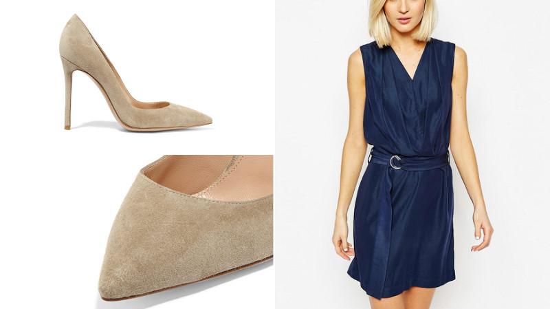 d6c34126b3d Выбираем туфли к синему платью  советы и рекомендации