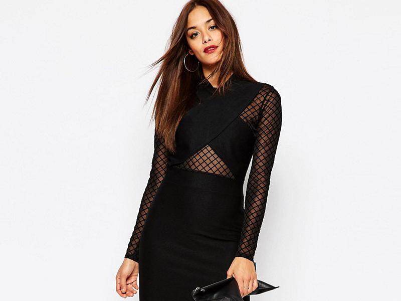 48955540 Черное коктейльное платье 2019 (56 фото)