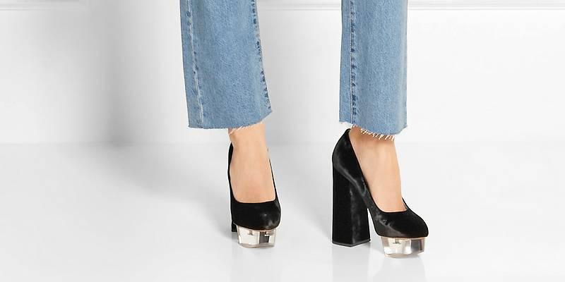 4e45e0771 Черные туфли на платформе – лучшие модели и способы комбинирования ...