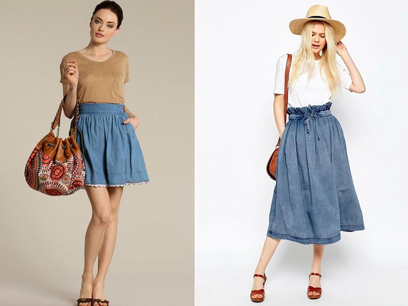 248c251eba4 Дополнить образ можно стильной сумочкой с художественным оформлением,  вышивкой или аппликациями из джинсовой ткани.