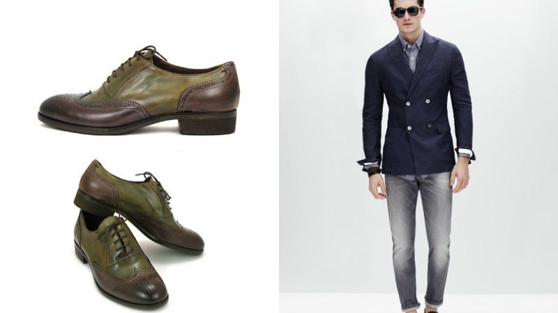 2f6481cb Парни, предпочитающие молодежный стиль, могут подбирать туфли  нестандартного цвета. Главное, цвет обуви не должен быть контрастным по  отношению к джинсам, ...