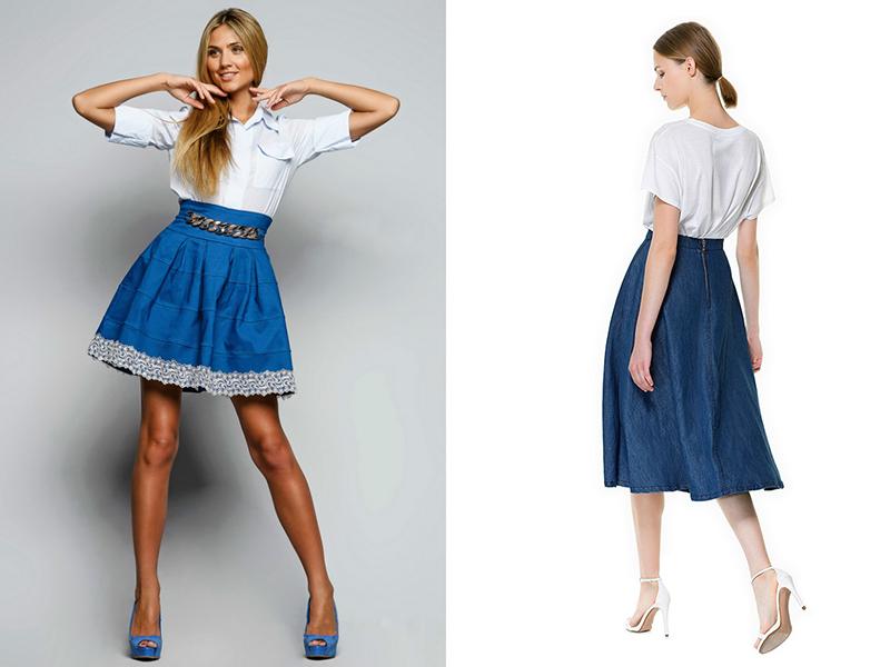 9e19b249a73 Джинсовая юбка солнце — универсальная и комфортная вещь   Мода от ...