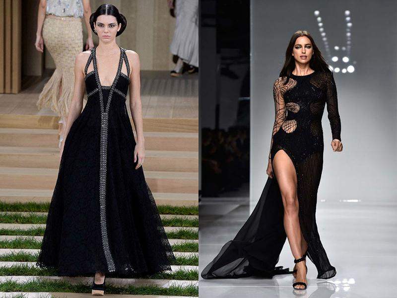 ce98d38bf41 Сексапильное длинное черное платье с открытой спиной от Chanel смотрится  завораживающе. Такой фасон приоткрывает завесу женской тайны