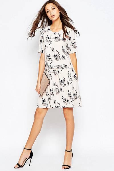96bcfa3c128 Белое платье с черными туфлями  главные принципы комбинирования ...