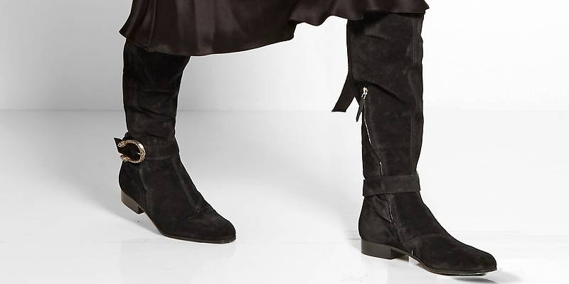 26ba914c6cc1 Ботфорты без каблука – удачное приобретение в любое время | Мода от ...